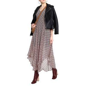 Maje Riano Floral-print Crepe Maxi Dress